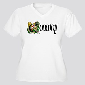 Conway Celtic Dragon Women's Plus Size V-Neck T-Sh