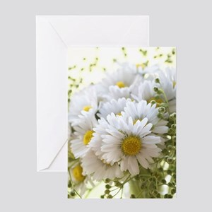 Bouquet of daisies in LOVE Greeting Cards