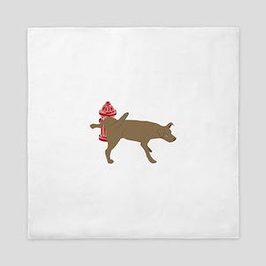 Peeing Dog Queen Duvet