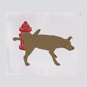 Peeing Dog Throw Blanket