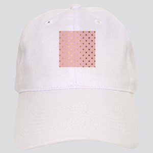 Golden dots on pink backround Cap