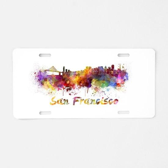 I Love San Francisco Aluminum License Plate