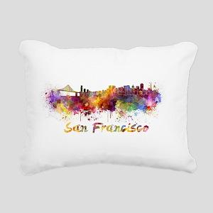 I Love San Francisco Rectangular Canvas Pillow