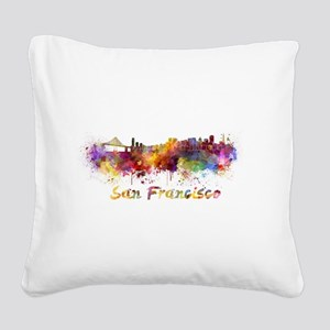I Love San Francisco Square Canvas Pillow