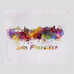 I Love San Francisco Throw Blanket