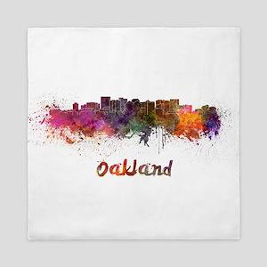 I Love Oakland Queen Duvet