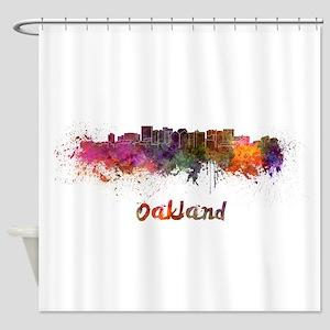 I Love Oakland Shower Curtain