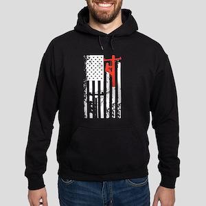 Lineman Flag Shirt Hoodie (dark)