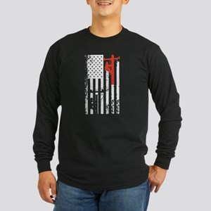Lineman Flag Shirt Long Sleeve T-Shirt