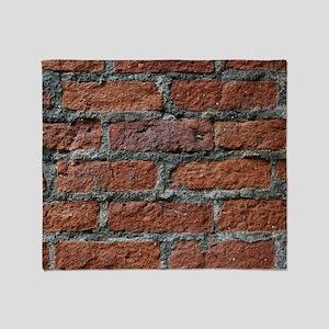 Old brick wall Throw Blanket