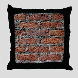Old brick wall Throw Pillow