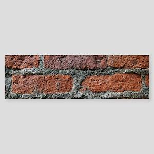 Old brick wall Bumper Sticker