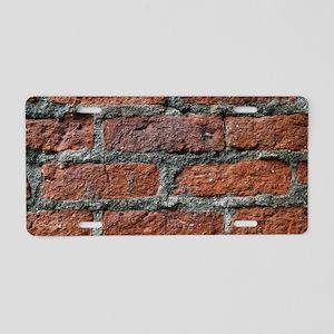 Old brick wall Aluminum License Plate