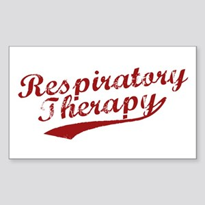 Respiratory Therapy Rectangle Sticker