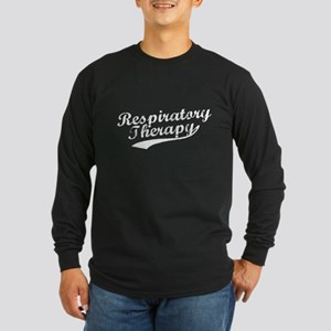 Respiratory Therapy Long Sleeve Dark T-Shirt