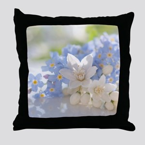 Lady and court Throw Pillow