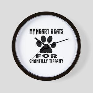 My Heart Beats For Chantilly Tiffany Ca Wall Clock