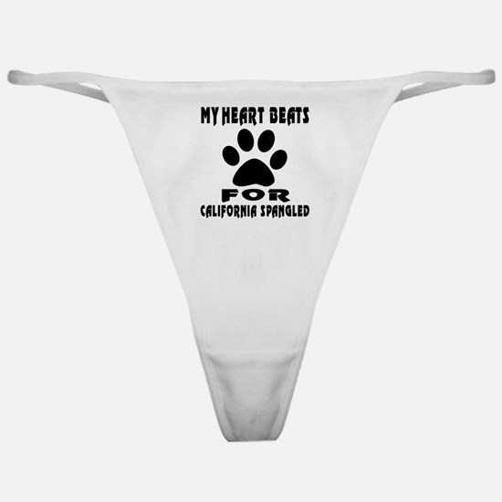 My Heart Beats For California Spangl Classic Thong