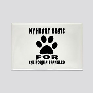 My Heart Beats For California Spa Rectangle Magnet