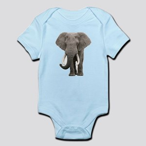 Realistic elephant design Body Suit