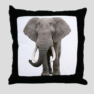 Realistic elephant design Throw Pillow
