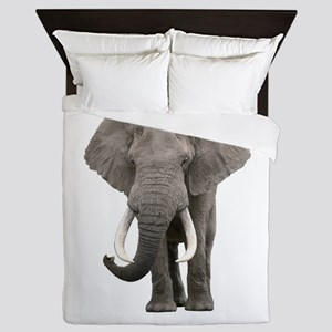 Realistic elephant design Queen Duvet