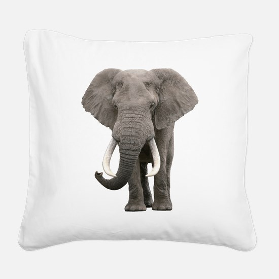 Realistic elephant design Square Canvas Pillow