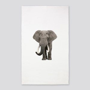 Realistic elephant design Area Rug