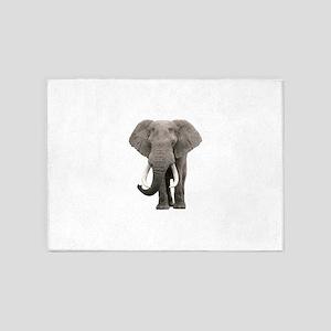 Realistic elephant design 5'x7'Area Rug