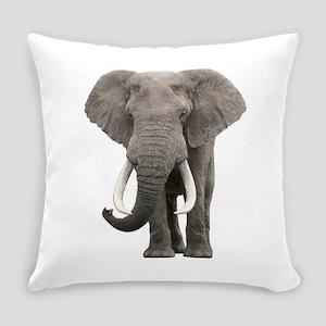 Realistic elephant design Everyday Pillow