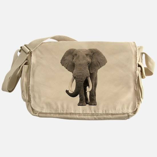 Realistic elephant design Messenger Bag