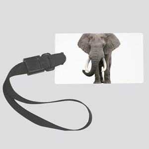 Realistic elephant design Large Luggage Tag