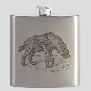 Vintage hyena art Flask