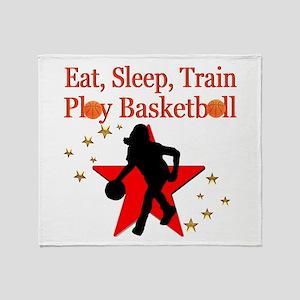 PLAY BASKETBALL Throw Blanket
