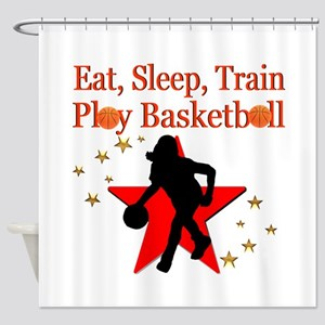 PLAY BASKETBALL Shower Curtain