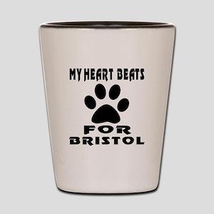 My Heart Beats For Bristol Cat Shot Glass