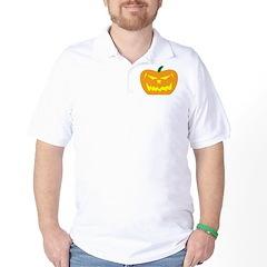Scary Pumpkin Halloween Golf Shirt