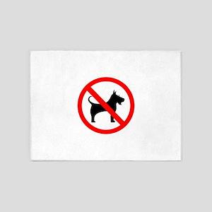 No dog sign 5'x7'Area Rug