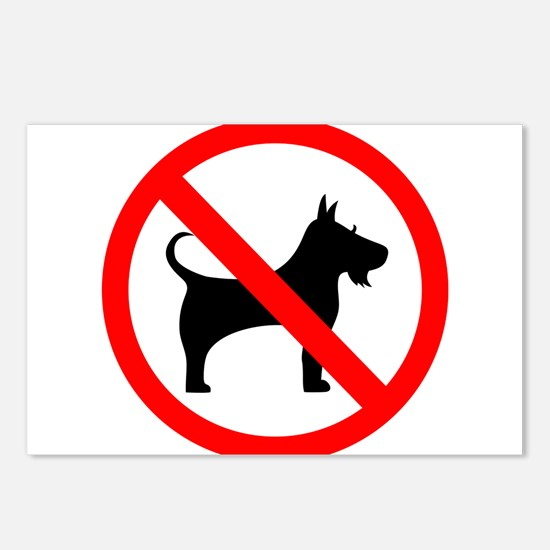 No dog sign Postcards (Package of 8)