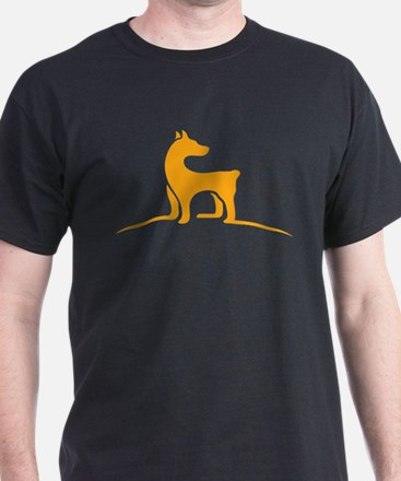 Simple dog logo design T-Shirt