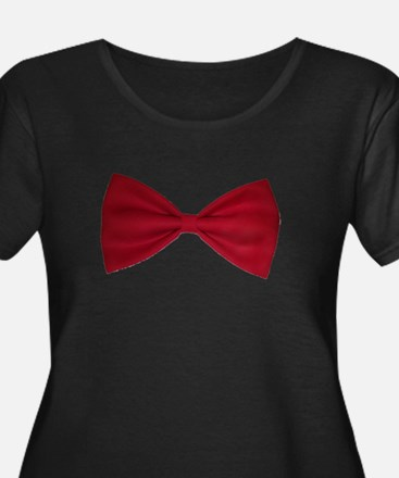 Red Bow Tie Plus Size T-Shirt