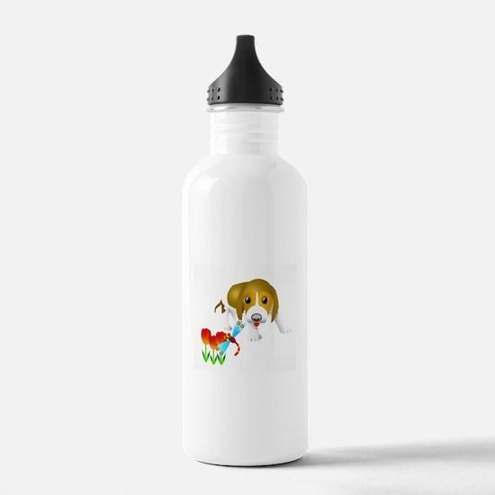 Dog and insert art Water Bottle