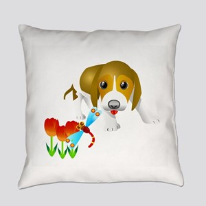 Dog and insert art Everyday Pillow