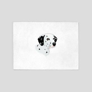 Dalmatian head 5'x7'Area Rug