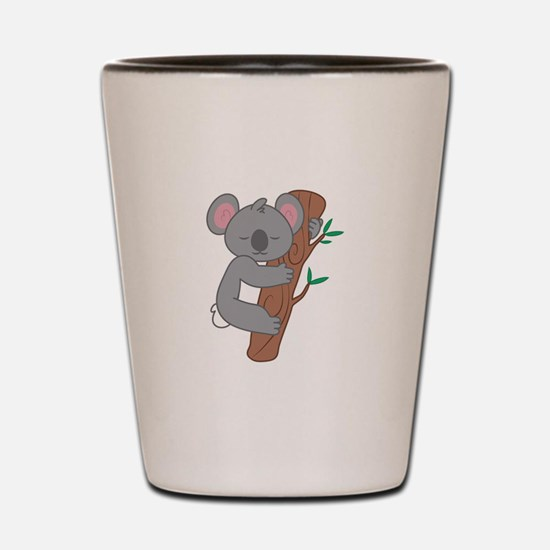 Sleepy Koala Shot Glass