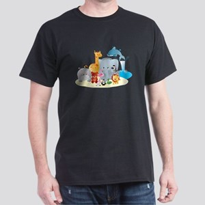 12 colorful zoo animals T-Shirt