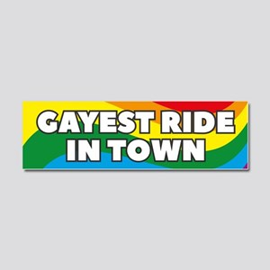 Gayest Ride In Town Car Magnet 10 x 3