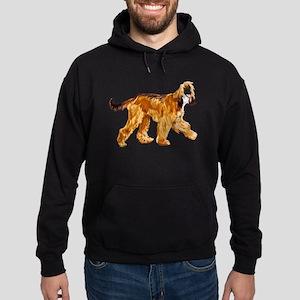 Brown afghan hound Hoodie (dark)