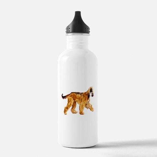 Brown afghan hound Water Bottle