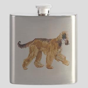 Brown afghan hound Flask